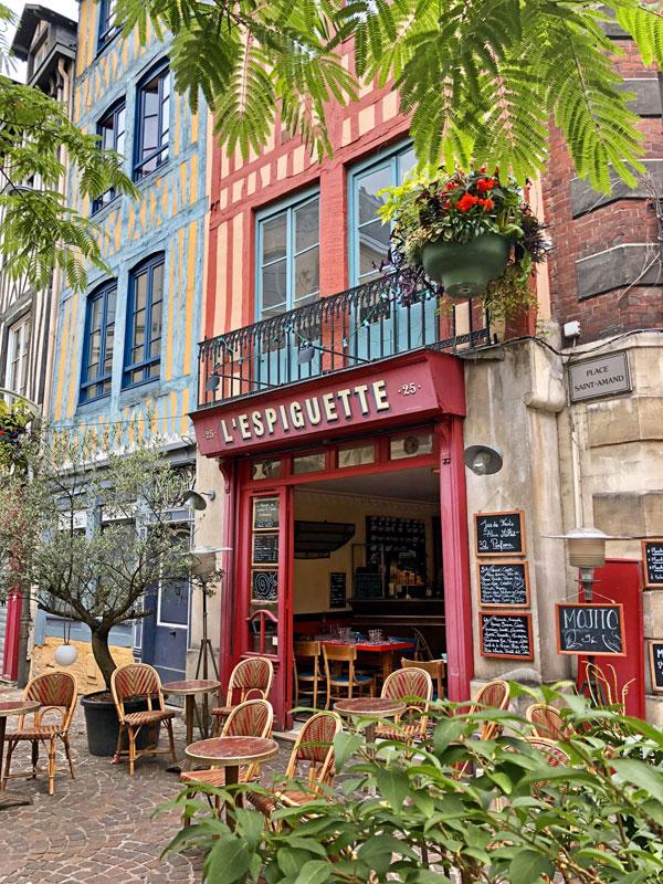 Restaurant Espiguette in Rouen, Normandy