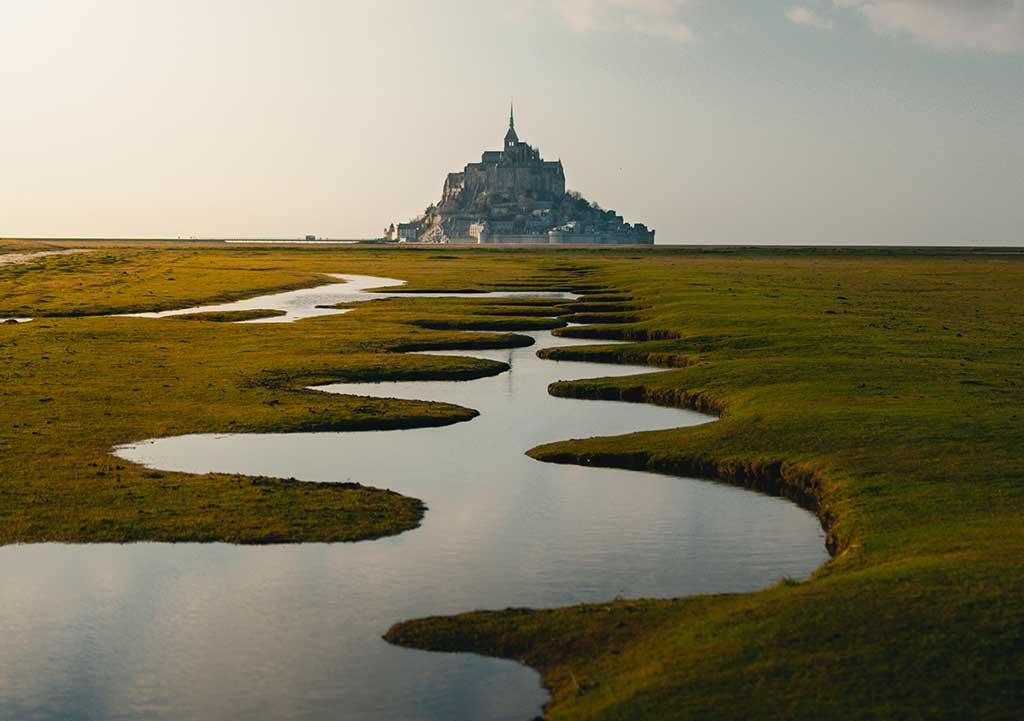 Mont Saint-Michel bay, Normandy