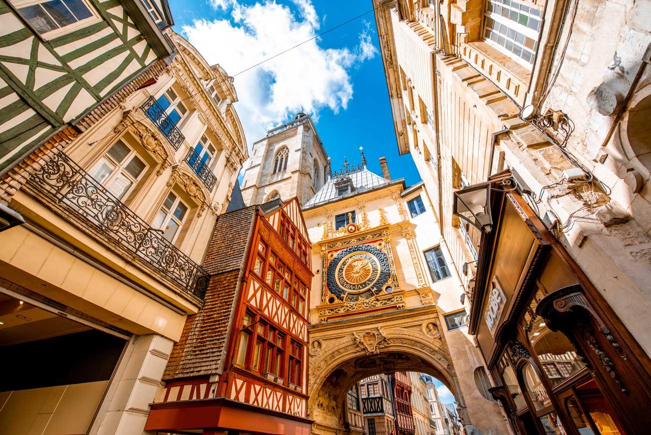 Authentic Norman city of Rouen, Normandy