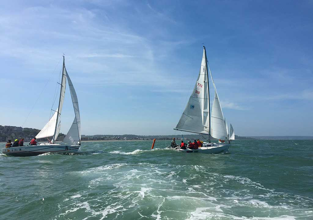 Sailing an incentive activity in Normandy